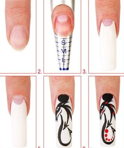 Идеи дизайна ногтей красным